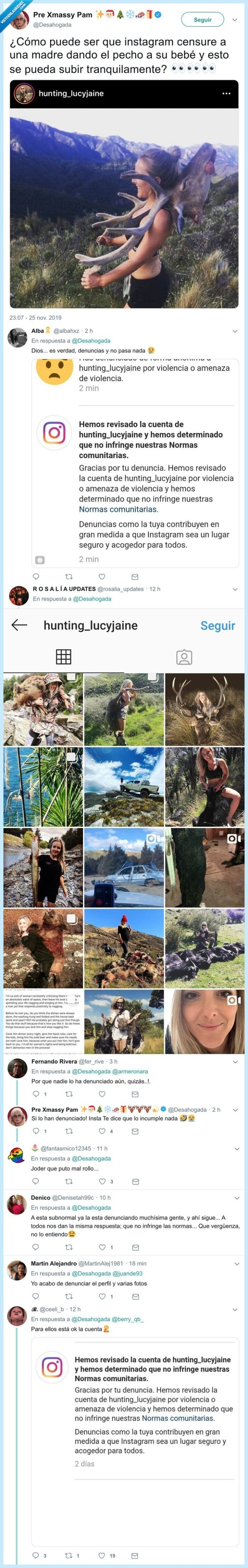 caza,cazadora,denuncias,instagram,perfil