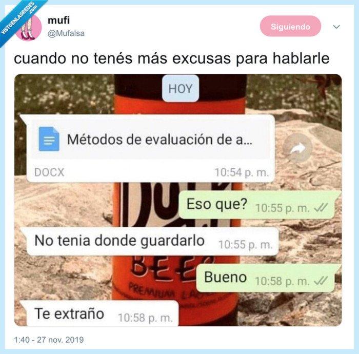 ex,excusa,novios,pareja,whatsapp