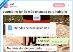 Enlace a Cualquier cosa es buena excusa para hablarle, por @Mufalsa