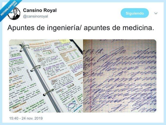 apuntes,ingeniería,letras,medicina
