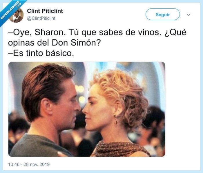 instinto básico,sharon stone,tinto básico,vino