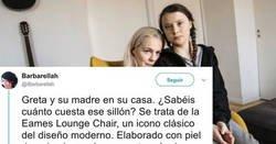 Enlace a La mejor respuesta posible al tweet que acusa a Greta Thunberg de demagoga barata por usar sillones de piel caros