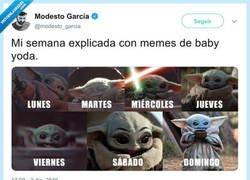Enlace a La semana con memes de Baby Yoda, por @modesto_garcia