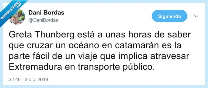 catamarán,extremadura,greta thunberg