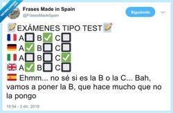 Enlace a El examen más preciado por todo estudiante, por @FrasesMadeSpain