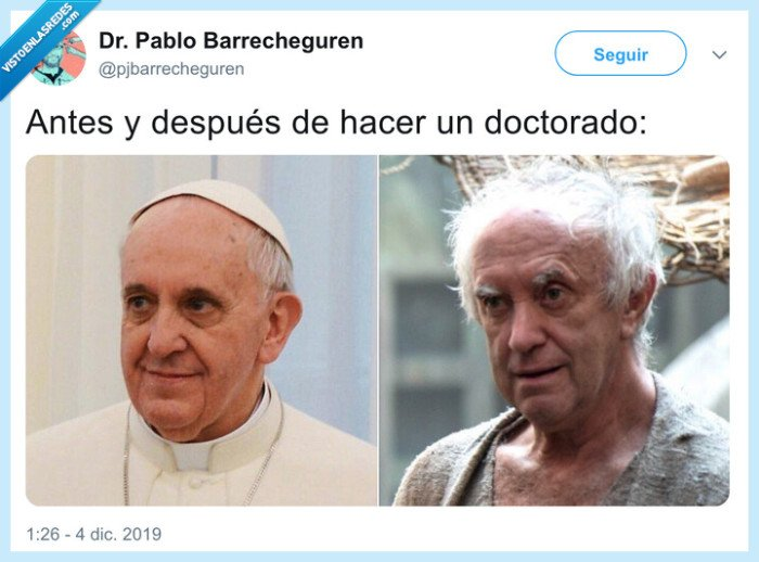 destrozo,doctorado,papa francisco