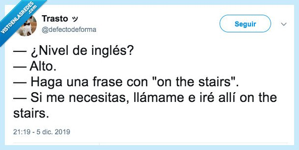 frases,inglés,on the stairs