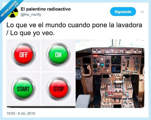 botones,cuadro de mandos,lavadora