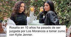 Enlace a Kylie Jenner sube una foto con Rosalía y la cosa se desmadra tanto que terminan hablando de catalanidad