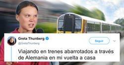 Enlace a El zasca a Greta Thunberg de una compañía de trenes que la deja totalmente retratada