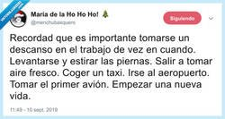 Enlace a Un pequeño descanso, por @menchubasquero
