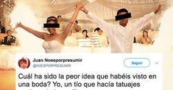 Enlace a Comparten las peores ideas que han visto en una boda y que acaban en desastre, y vas a pillar muchas ideas de aquí