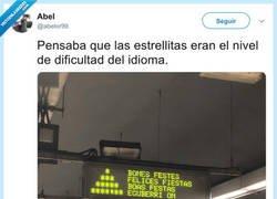Enlace a Examen de idiomas en el metro, por @abelor99