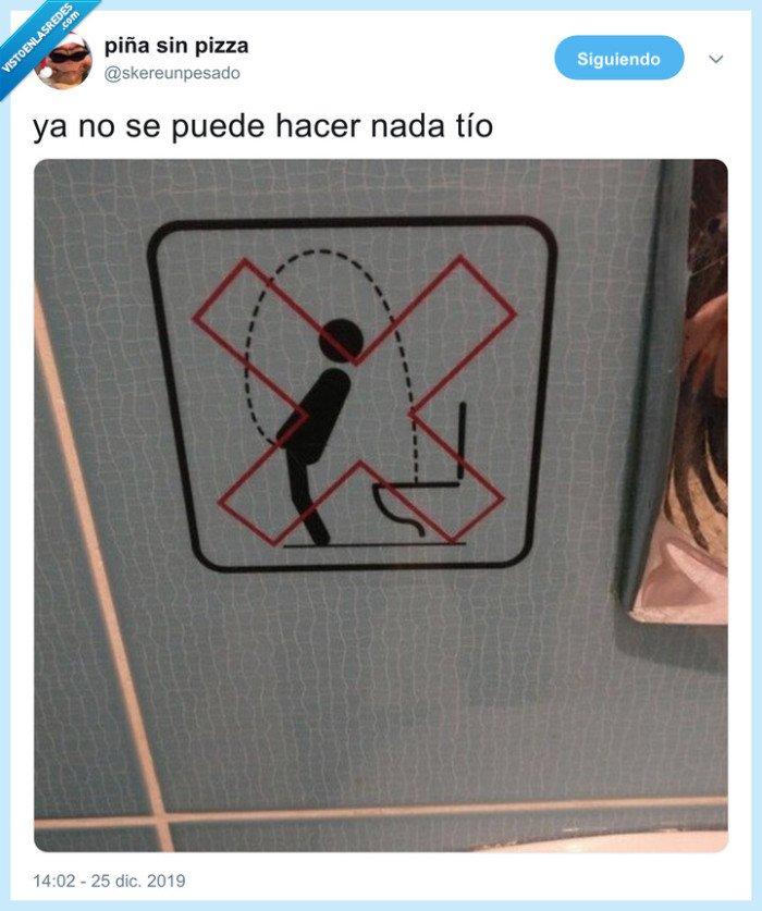 baño,cartel,mear,prohibición
