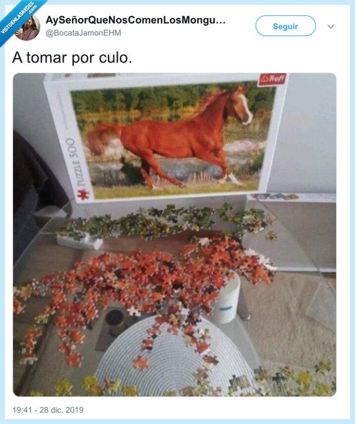 caballo,piezas,puzzle