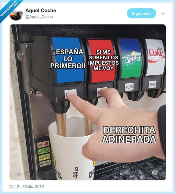 bebidas,derecha,impuestos,máquina,ricos