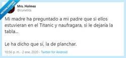Enlace a Titanic, motivo de discusión de parejas... Por @cunetita