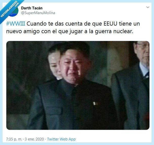 amigo,corea,eeuu,guerra nuclear,irán,wwiii