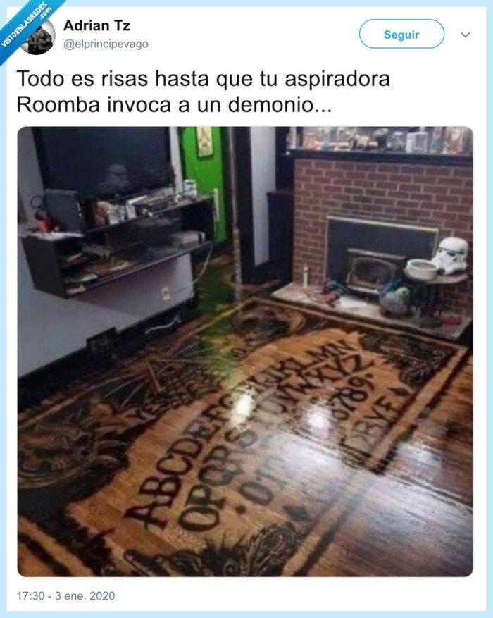 demonio,elprincipevago,ouija,Roomba