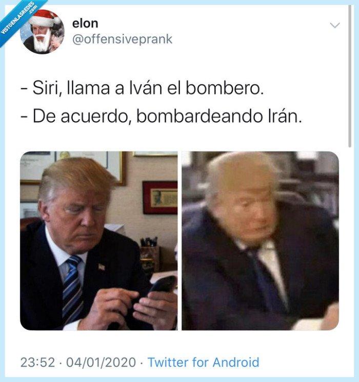 Iran,Siri,Trump,USA,WW3