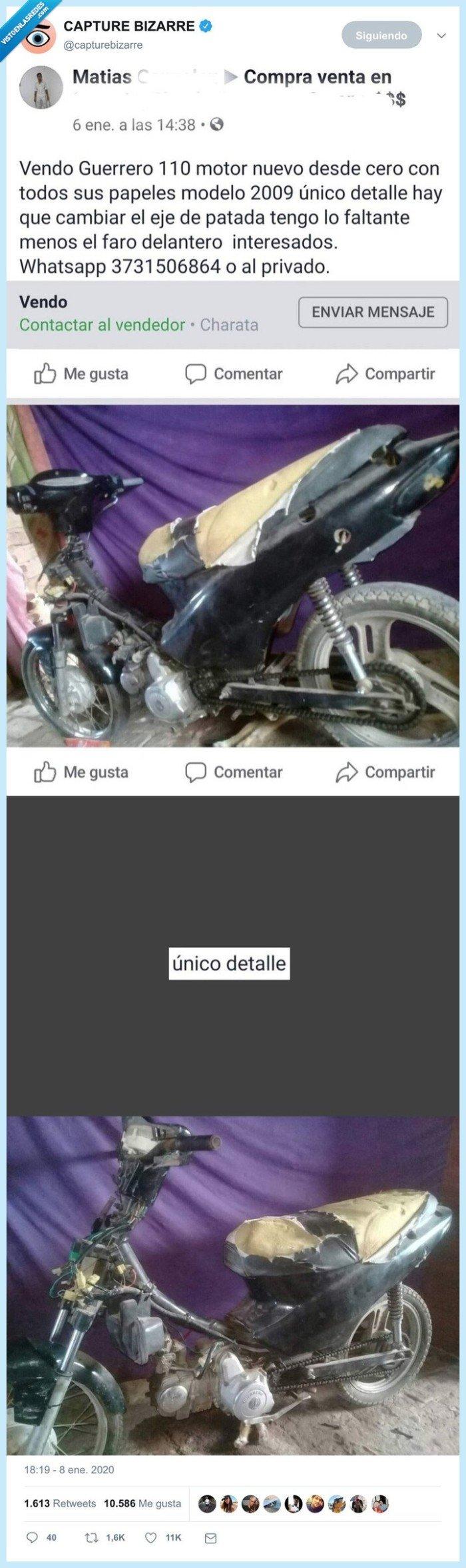 destrozada,moto,venta