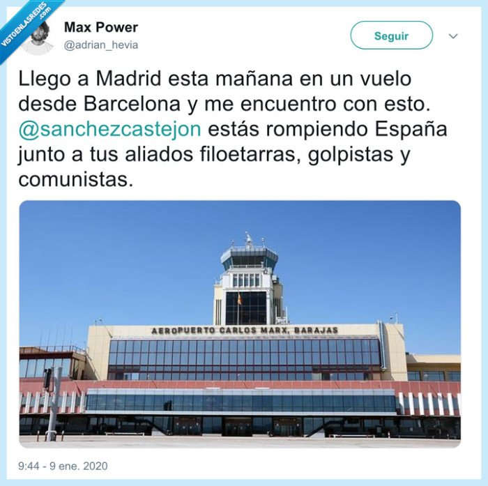 aeropuerto,carlos marx,Comunistas