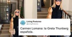 Enlace a Carmen Lomana queda a la altura del betún y se la comen por alardear que usa pieles reales de animales