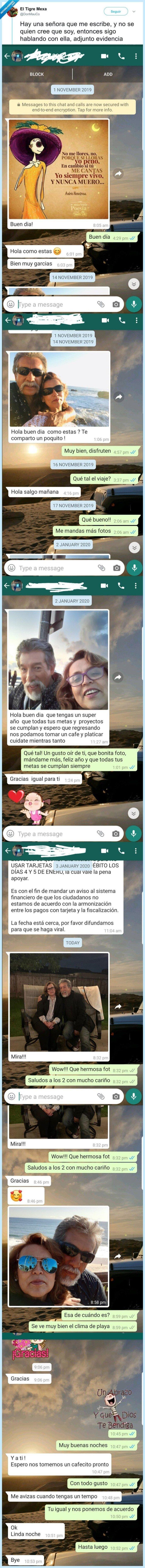 amistad,desconocidos,señora,whatsapp