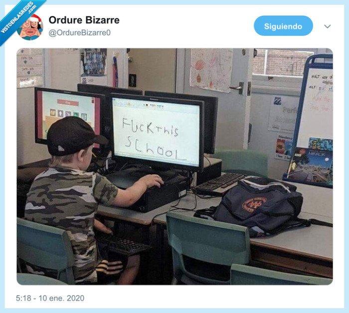 amenaza,colegio,niño,ordenador,tiroteo