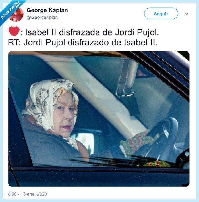 jordi pujol,pañuelo,parecidos razonables,reina isabel