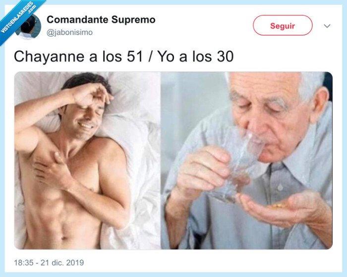 chayanne,edad,envejecer,pastillas