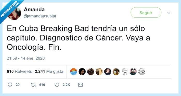 breaking bad,capítulos,cuba,oncología
