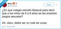 Enlace a Menudo peligro el colegio de Abascal, por @AbreCesar23
