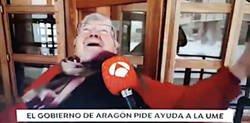 Enlace a Una señora de Teruel se convierte en viral tras reírse de la caída de una vecina