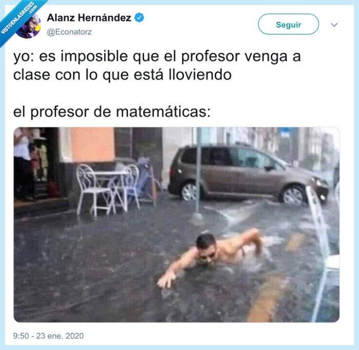 gloria,inundación,profesor