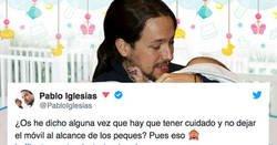 Enlace a El perro o los hijos de Pablo Iglesias cogen su móvil y la lían en twitter con este tweet random