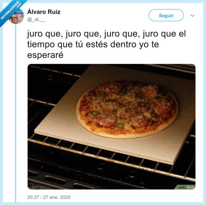 esperar,horno,pizza