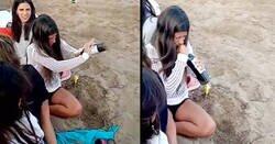 Enlace a Una joven causa furor en las redes tras abrir una botella de vino sin sacacorchos y hace correr la imaginación de todos