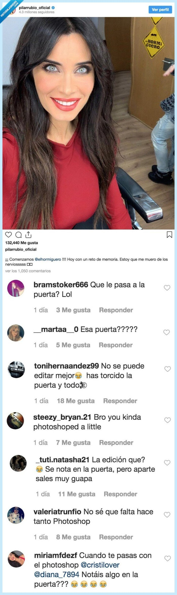 error,instagram,photoshop,pilar rubio,puerta