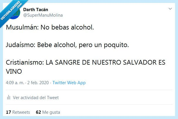 alcohol,cristianismo,religiones