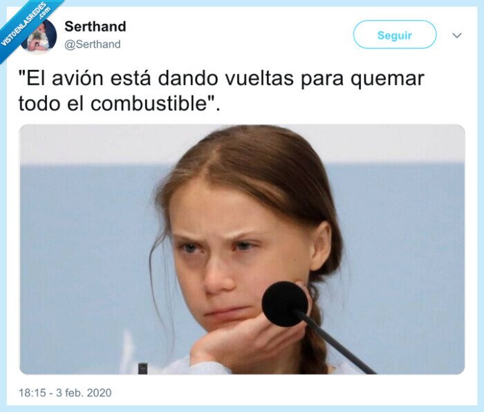 aterrizaje,avion,combustible,greta thunberg,madrid