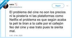 Enlace a El verdadero problema del cine, por @favadakedavra