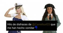 Enlace a Recopila los disfraces de profesiones de mujer que hay en Carrefour para denunciar que solo sirven para enseñar pierna y delantera