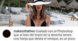 Enlace a Zasca de la modelo Marta López a un seguidor que le criticaba por usar Photoshop en su foto en bañador