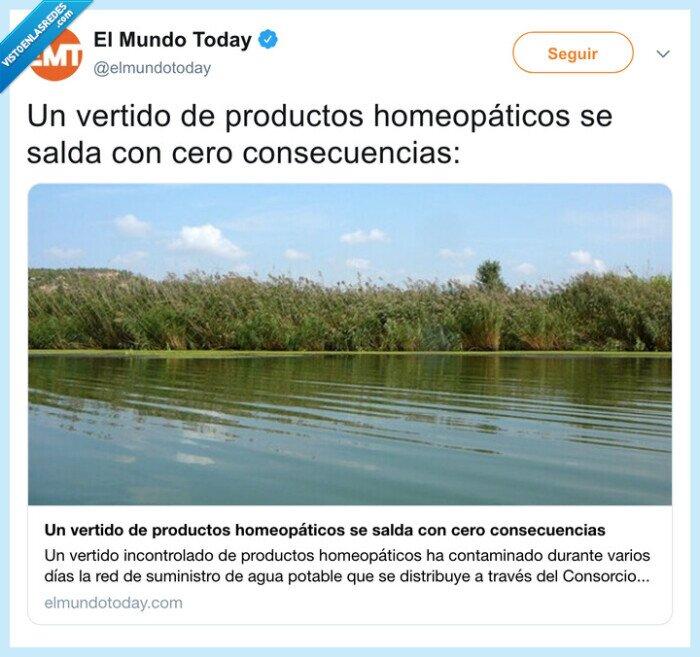 homeopatía,vertidos