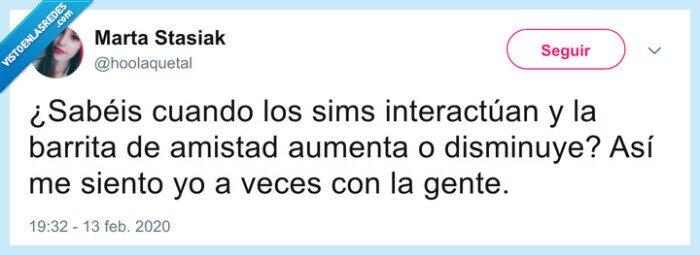 amigos,amistad,hablar,Sims,Twitter