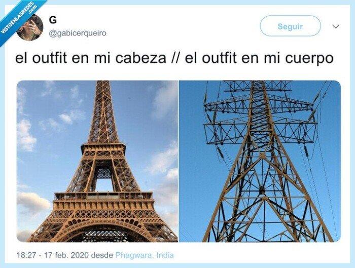 outfit,quedar,ropa,torre de alta tensión,torre eiffel