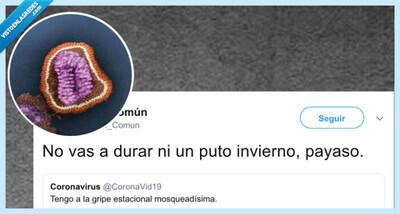 541390 - Hostias virales en Twitter, la gripe común se pelea con el coronavirus