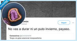 Enlace a Hostias virales en Twitter, la gripe común se pelea con el coronavirus