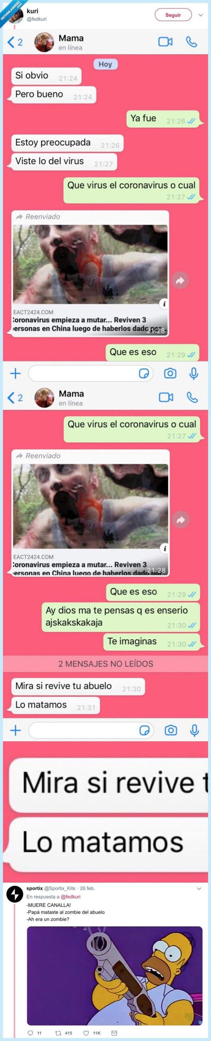 abuelo,coronavirus,matar,zombies